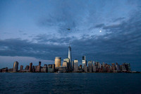 NYC Skyline in Blue - Under the Moon